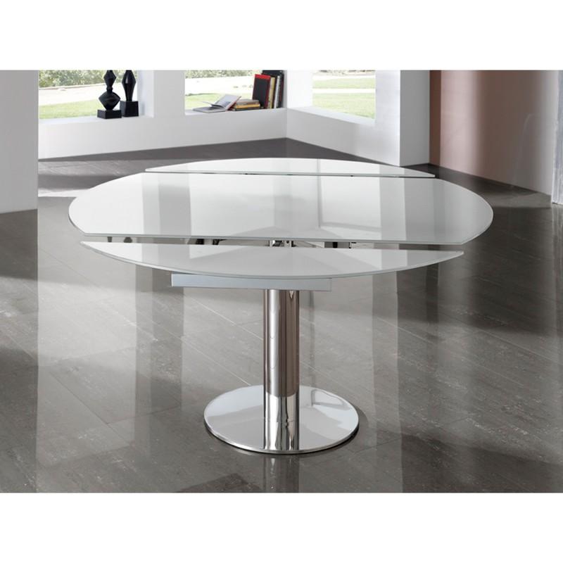 Tavolo da pranzo allungabile ALBA in acciaio e cromo e ...