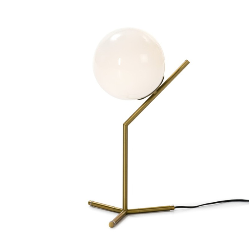 Lampada Da Tavolo Bianca E Oro26x51x Qechic