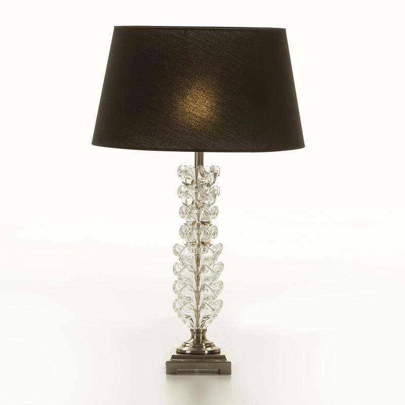 Bordslampa utan lampskärm 15x15x58 Metall genomskinligt glas