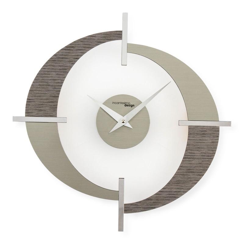 Orologio da parete in metacrilato grigio Modus, Ø40 cm