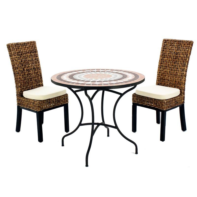 Set De Terraza Con 2 Sillas Y 2 Cojines Wood 75 2 2
